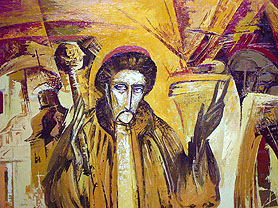 Франчук В. Фрагмент поліптиху «Гетьманський шлях» — «Іван Мазепа», 1997–2000 рр.