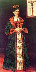 Припускають, що на цьому портреті української шляхтянки XVIII століття зображено гетьманову матір Марію-Магдалену Мазепину